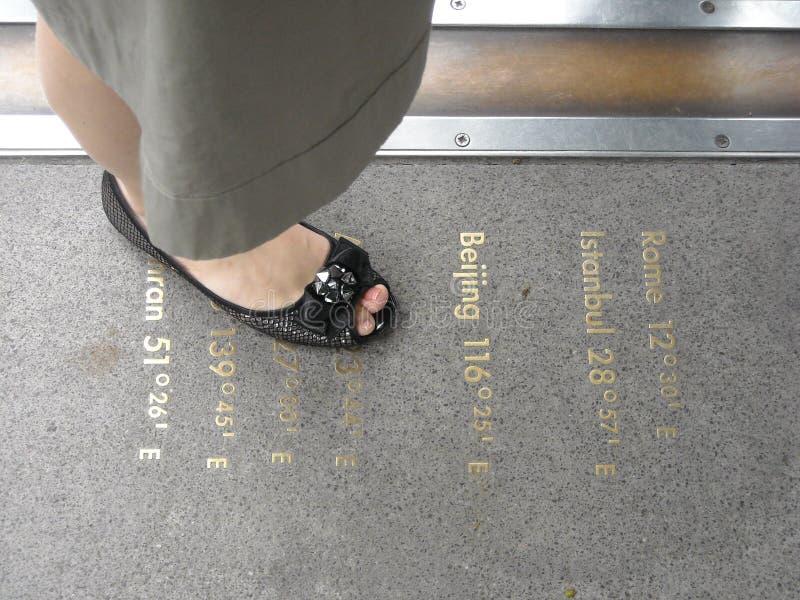 Λονδίνο ο μεσημβρινός του Γκρήνουιτς στοκ φωτογραφία
