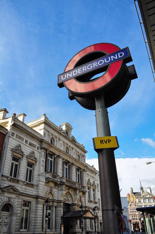 Λονδίνο υπόγεια στοκ εικόνες