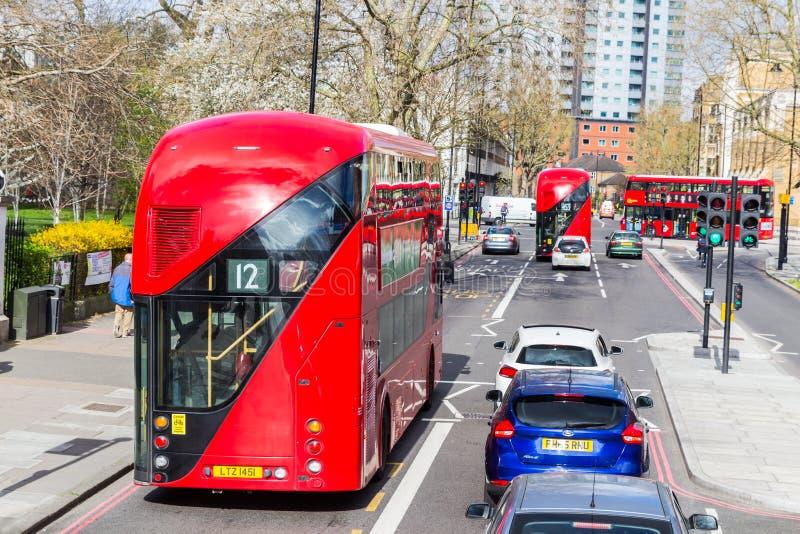 Λονδίνο, UK - 1 Απριλίου 2017: Πόλη του Λονδίνου, άποψη από ένα διπλάσιο στοκ φωτογραφία με δικαίωμα ελεύθερης χρήσης
