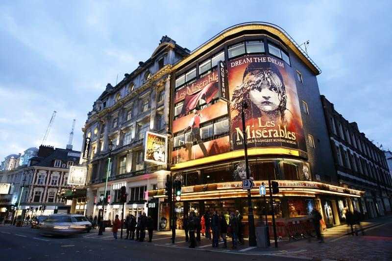 Θέατρο του Λονδίνου, θέατρο της βασίλισσας στοκ φωτογραφία με δικαίωμα ελεύθερης χρήσης