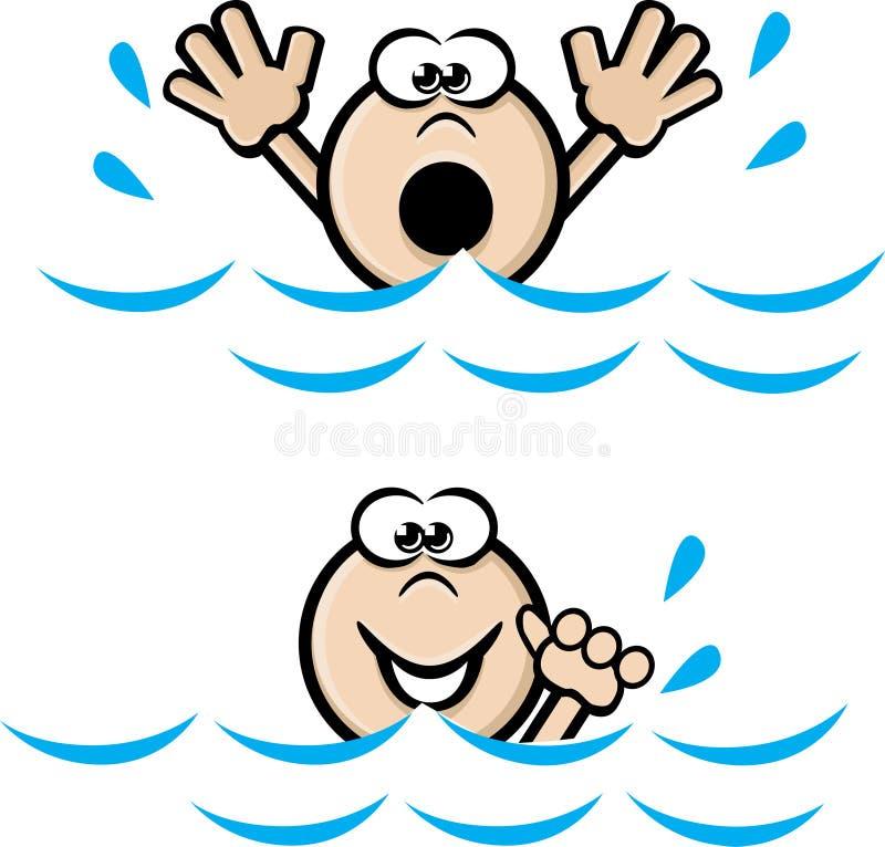 λοξοτομήστε κολυμπά διανυσματική απεικόνιση