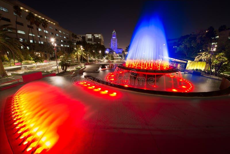 Λος Άντζελες Δημαρχείο όπως βλέπει από το μεγάλο πάρκο στοκ εικόνα με δικαίωμα ελεύθερης χρήσης