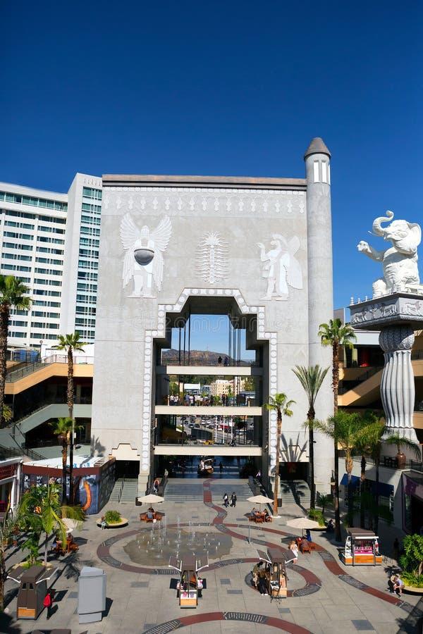 Λος Άντζελες, ΠΕΡΙΠΟΥ Patio στο θέατρο Dolby στοκ φωτογραφία