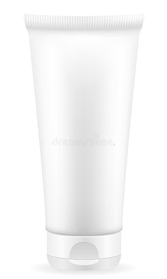 Λοσιόν κρέμας σε ένα διάνυσμα αποθεμάτων συσκευασίας πλαστικών εμπορευματοκιβωτίων απεικόνιση αποθεμάτων