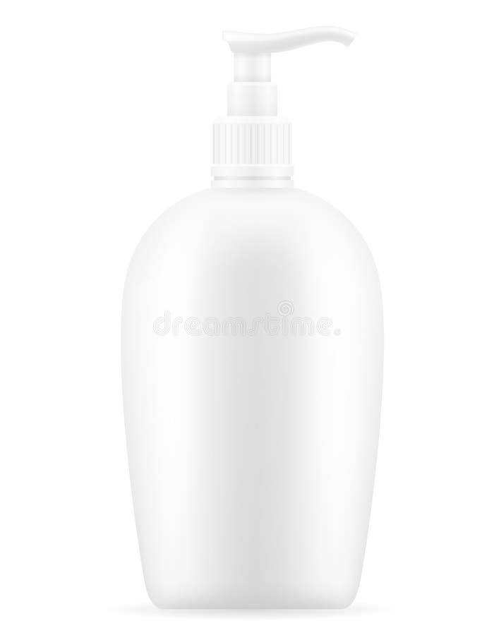 Λοσιόν κρέμας σε ένα διανυσματικό illus αποθεμάτων συσκευασίας πλαστικών εμπορευματοκιβωτίων διανυσματική απεικόνιση