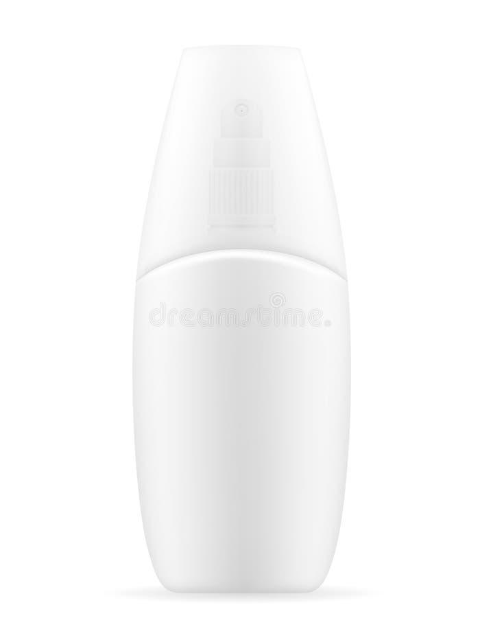 Λοσιόν κρέμας σε ένα διανυσματικό illus αποθεμάτων συσκευασίας πλαστικών εμπορευματοκιβωτίων ελεύθερη απεικόνιση δικαιώματος