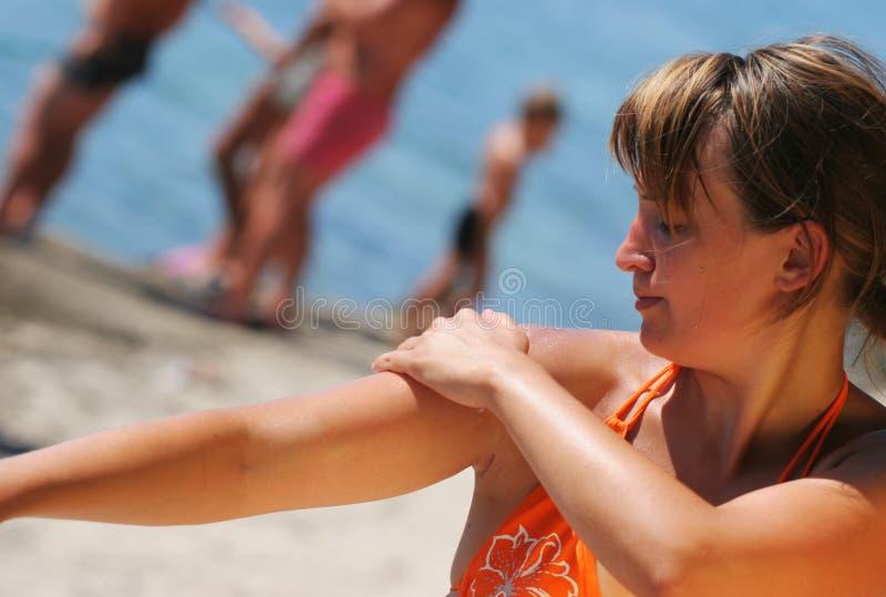 λοσιόν suntan στοκ εικόνες