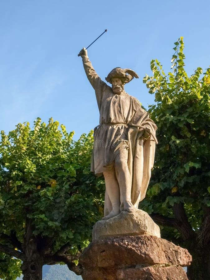 Λουγκάνο Ελβετία Το άγαλμα του William λέει στοκ φωτογραφία με δικαίωμα ελεύθερης χρήσης