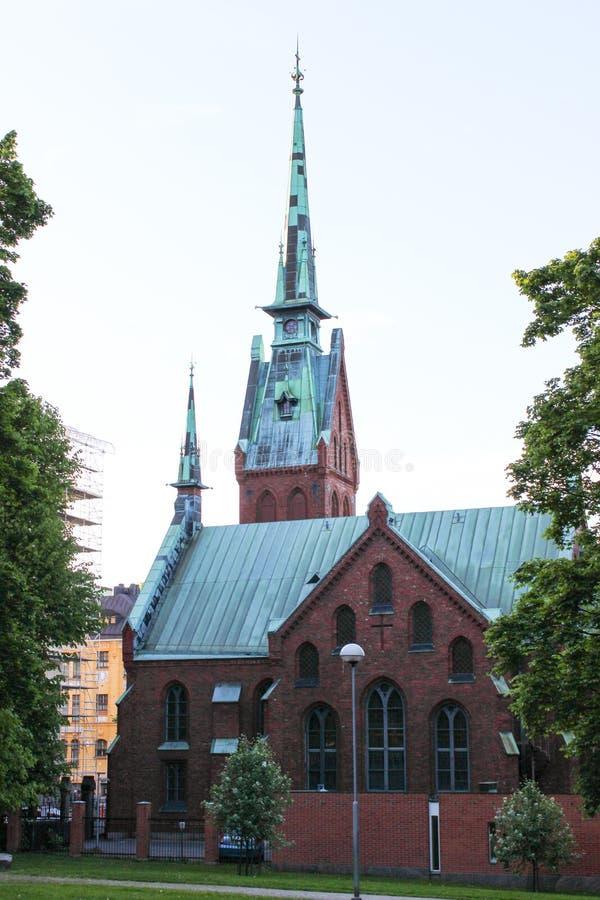 Λουθηρανικός καθεδρικός ναός στο Ελσίνκι, Φινλανδία στοκ εικόνα με δικαίωμα ελεύθερης χρήσης