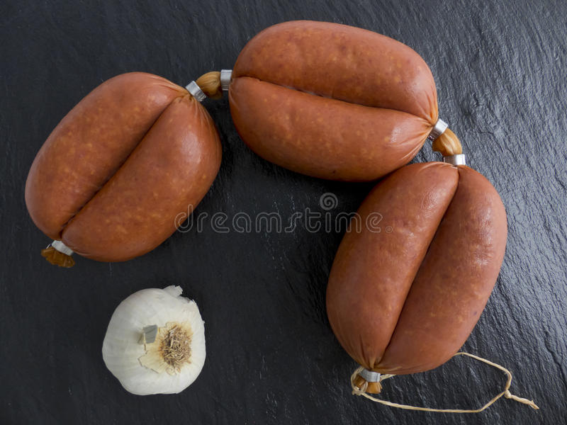 Λουκάνικο σκόρδου Sucuk στοκ φωτογραφίες