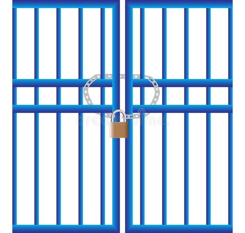 λουκέτο πυλών ελεύθερη απεικόνιση δικαιώματος