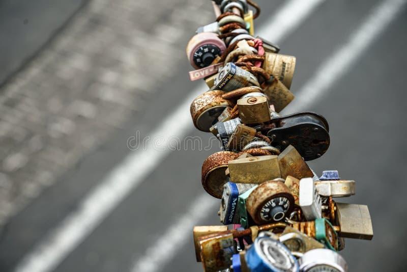 Λουκέτο της γέφυρας του Μπρούκλιν στοκ φωτογραφία με δικαίωμα ελεύθερης χρήσης