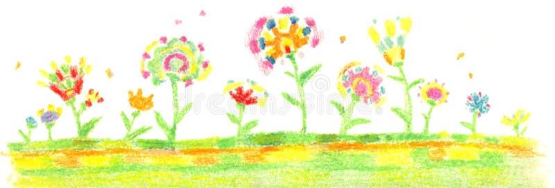 λουλούδια έργου τέχνης στοκ εικόνες