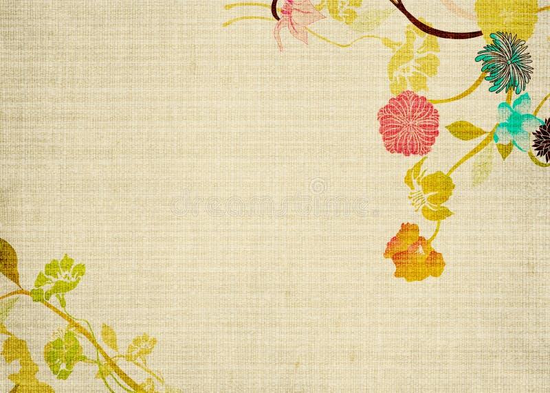 λουλούδια αναδρομικά ελεύθερη απεικόνιση δικαιώματος