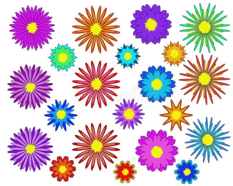 Λουλούδια καθορισμένα - λουλούδια απεικόνισης απεικόνιση αποθεμάτων