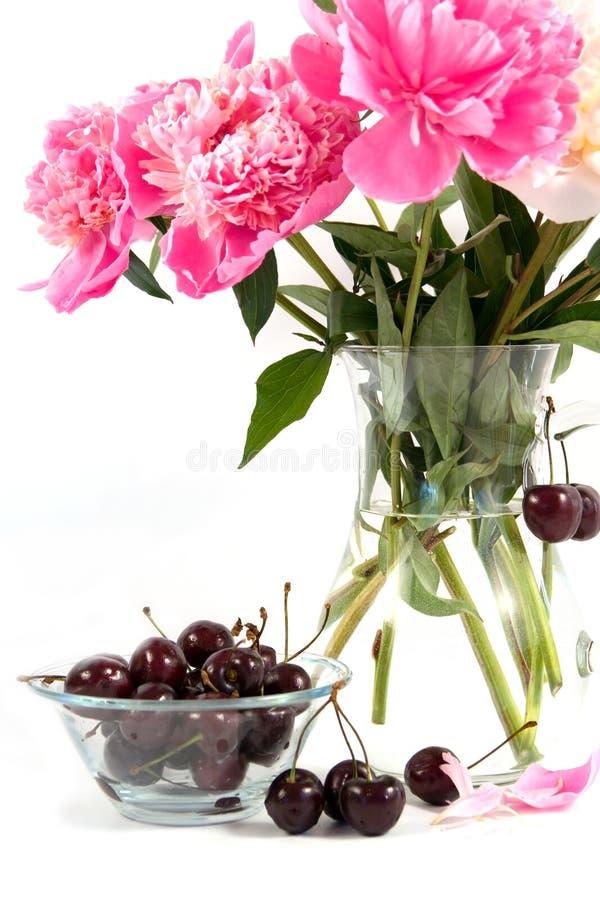 λουλούδια κερασιών ανθοδεσμών στοκ εικόνες