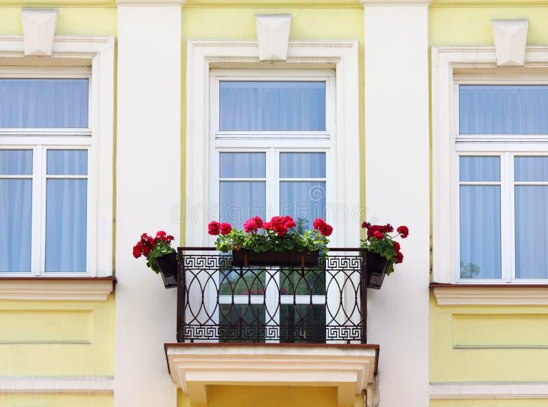 λουλούδια μπαλκονιών στοκ εικόνα με δικαίωμα ελεύθερης χρήσης