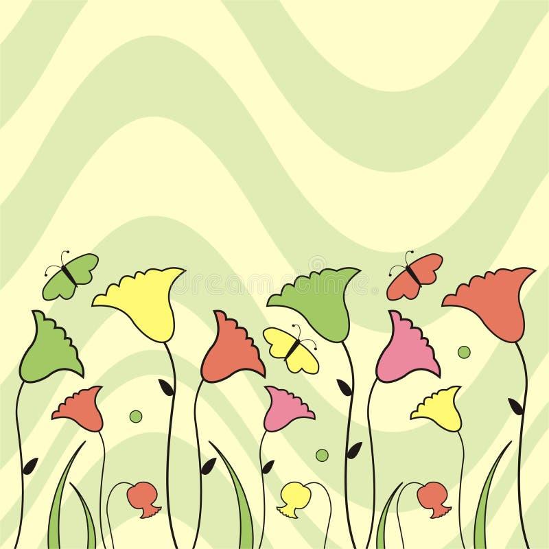 λουλούδια πεταλούδων απεικόνιση αποθεμάτων