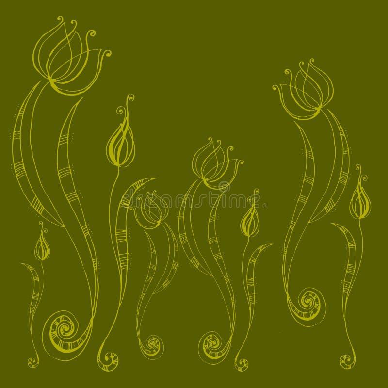Download λουλούδια που διευκ&rho διανυσματική απεικόνιση. εικονογραφία από φυτό - 13184102