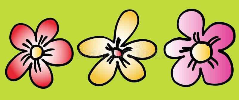 λουλούδια που τίθενται διανυσματική απεικόνιση