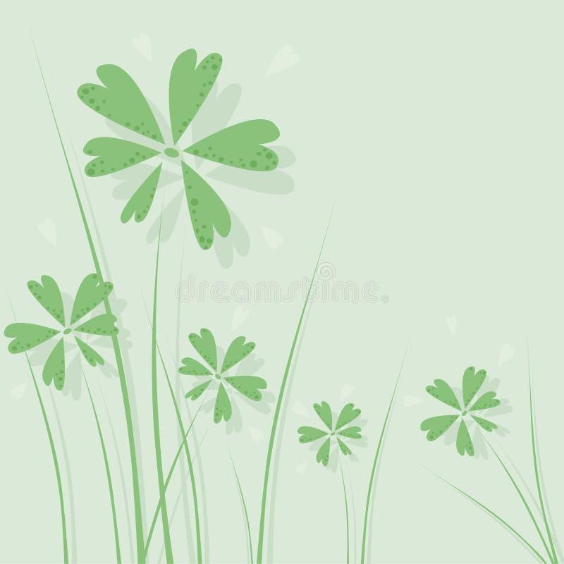 λουλούδια πράσινα απεικόνιση αποθεμάτων