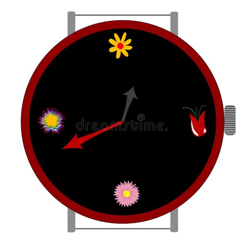 λουλούδια ρολογιών διανυσματική απεικόνιση