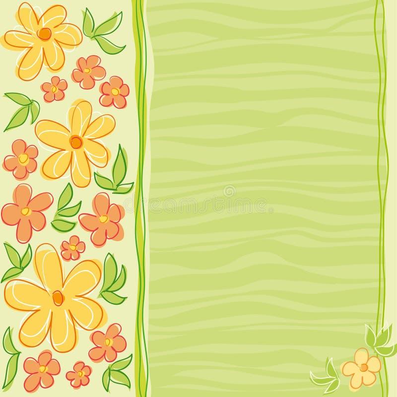 λουλούδια σχεδίου καρτών διανυσματική απεικόνιση