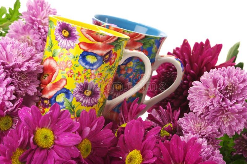 λουλούδια φλυτζανιών στοκ φωτογραφία με δικαίωμα ελεύθερης χρήσης