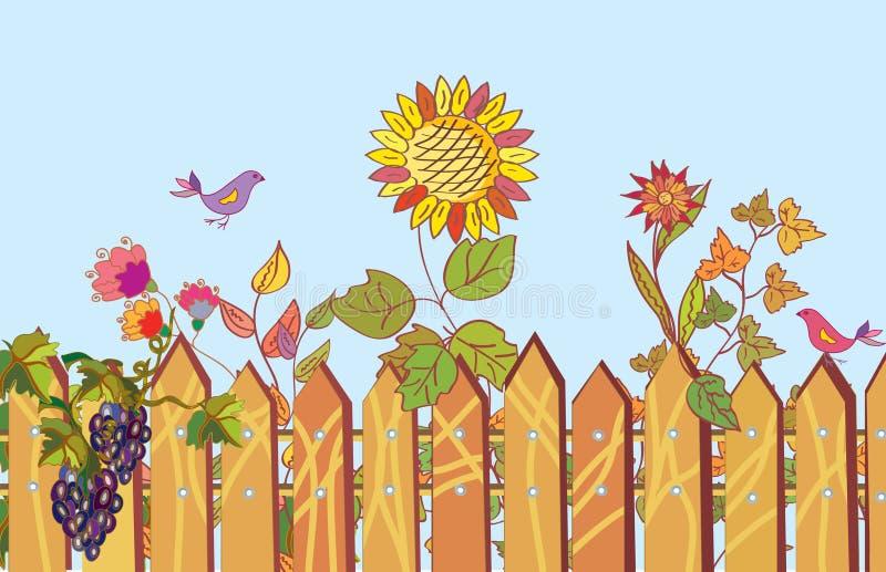 λουλούδια φραγών κινούμ&eps διανυσματική απεικόνιση