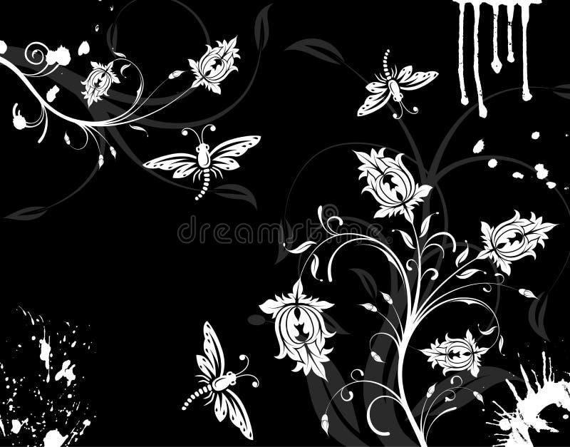 λουλούδι ανασκόπησης grunge απεικόνιση αποθεμάτων