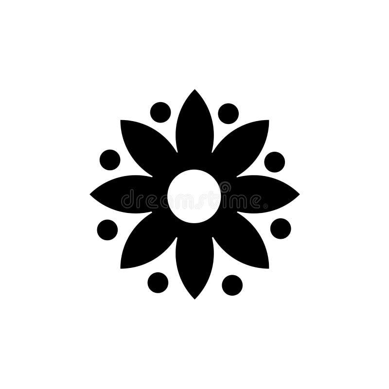 Λουλούδι με το διανυσματικό σημάδι εικονιδίων οκτώ πετάλων και σύμβολο που απομονώνεται στο άσπρο υπόβαθρο, λουλούδι με την έννοι απεικόνιση αποθεμάτων