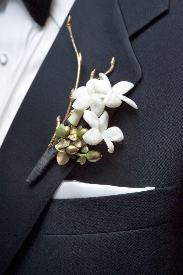 λουλούδι μπουτονιερών στοκ εικόνες