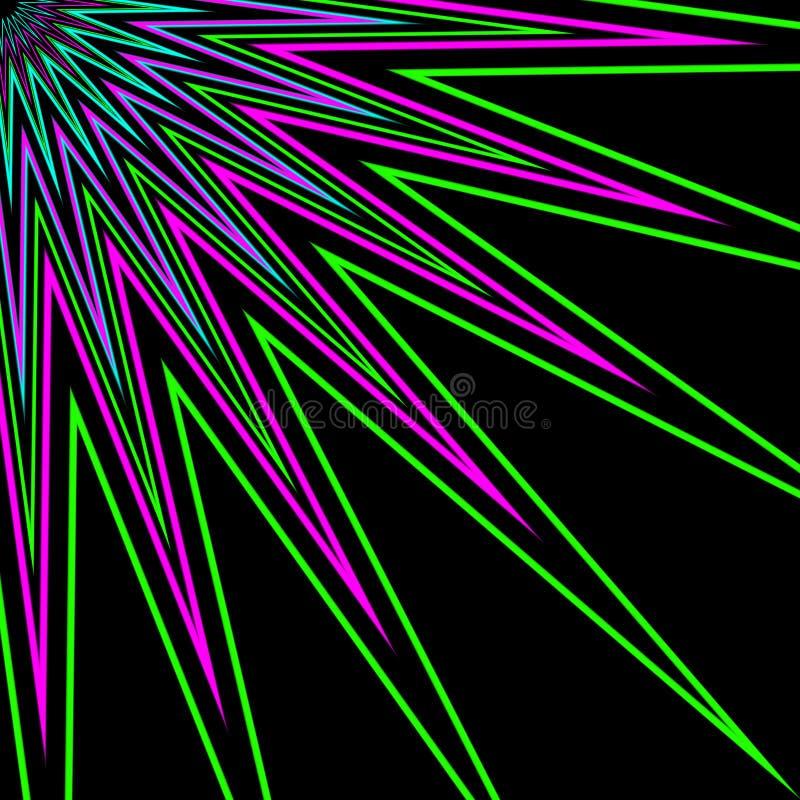 Λουλούδι ο πολύχρωμος Ray αστεριών ελεύθερη απεικόνιση δικαιώματος