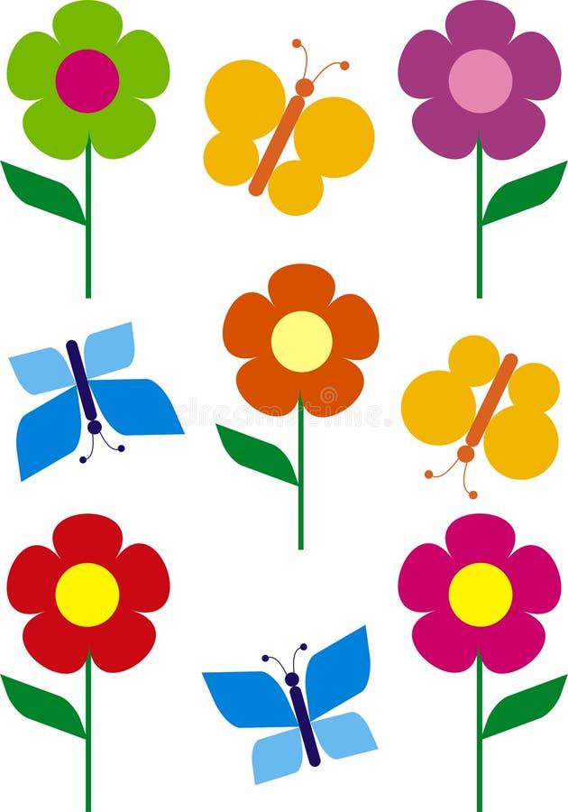 λουλούδι πεταλούδων ελεύθερη απεικόνιση δικαιώματος