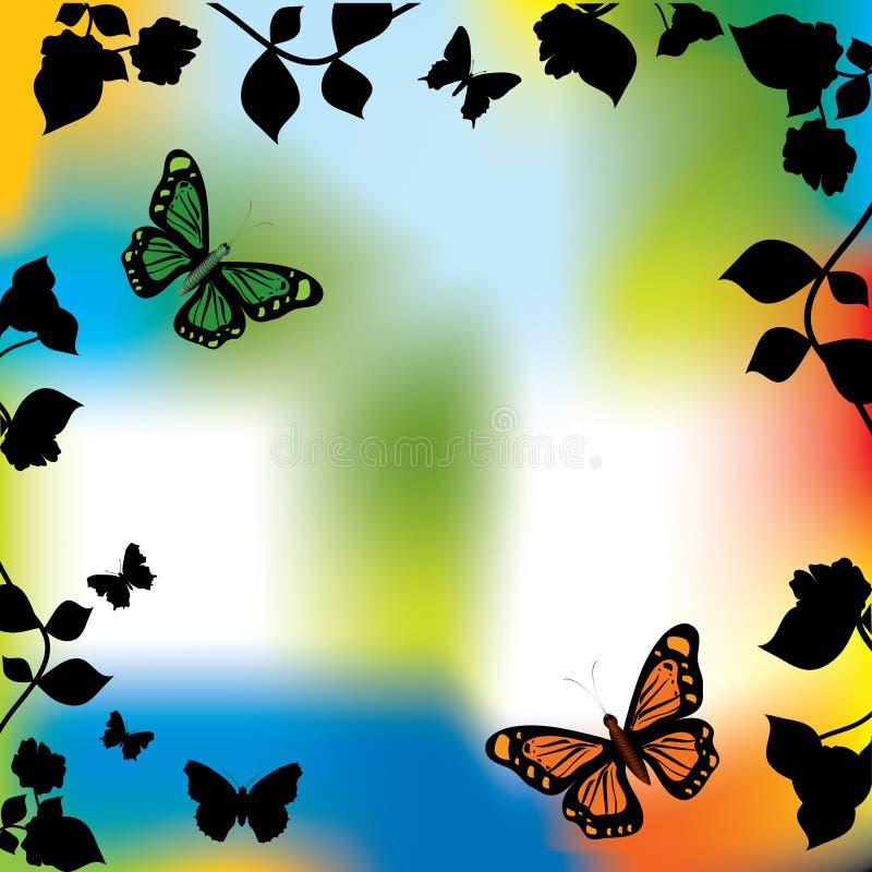λουλούδι πεταλούδων διανυσματική απεικόνιση
