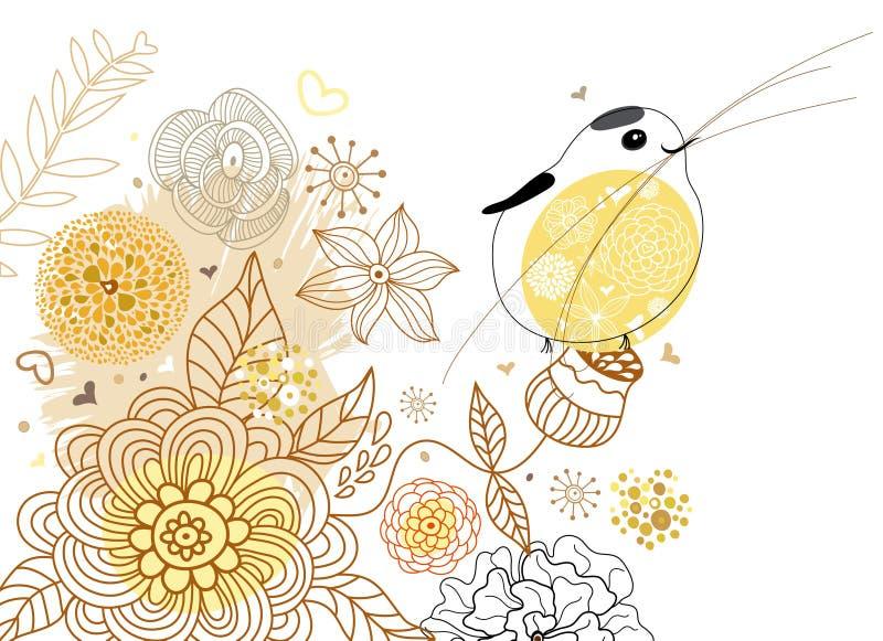λουλούδι πουλιών ανασ&kapp απεικόνιση αποθεμάτων