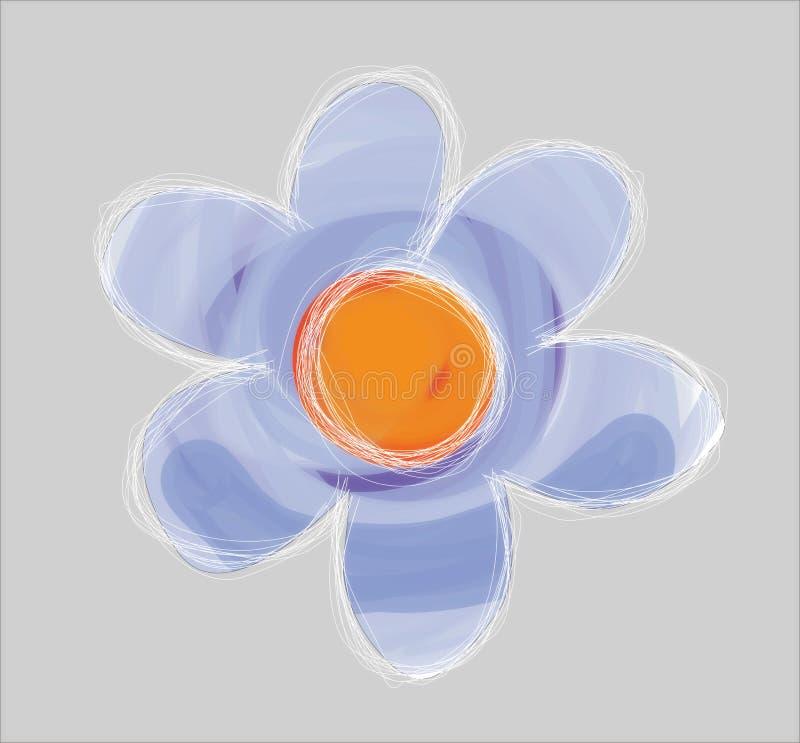 λουλούδι που διευκρινίζεται ελεύθερη απεικόνιση δικαιώματος