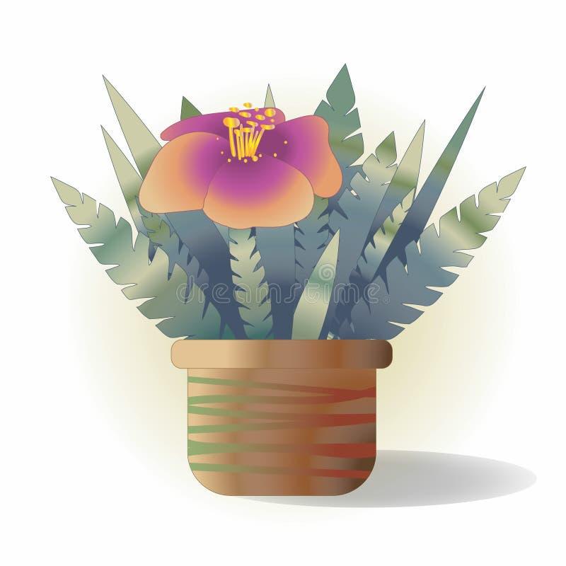 Λουλούδι σε ένα δοχείο απεικόνιση αποθεμάτων