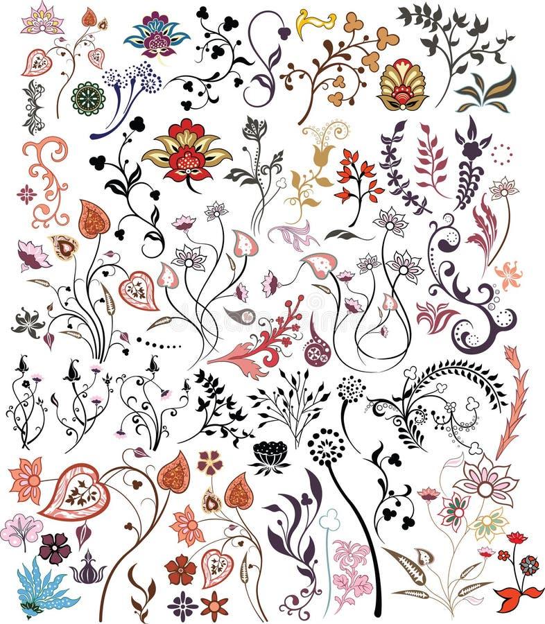 λουλούδι στοιχείων σχ&epsil διανυσματική απεικόνιση