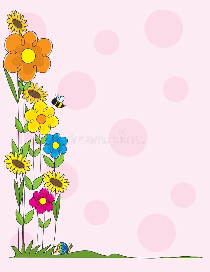 λουλούδι συνόρων ελεύθερη απεικόνιση δικαιώματος