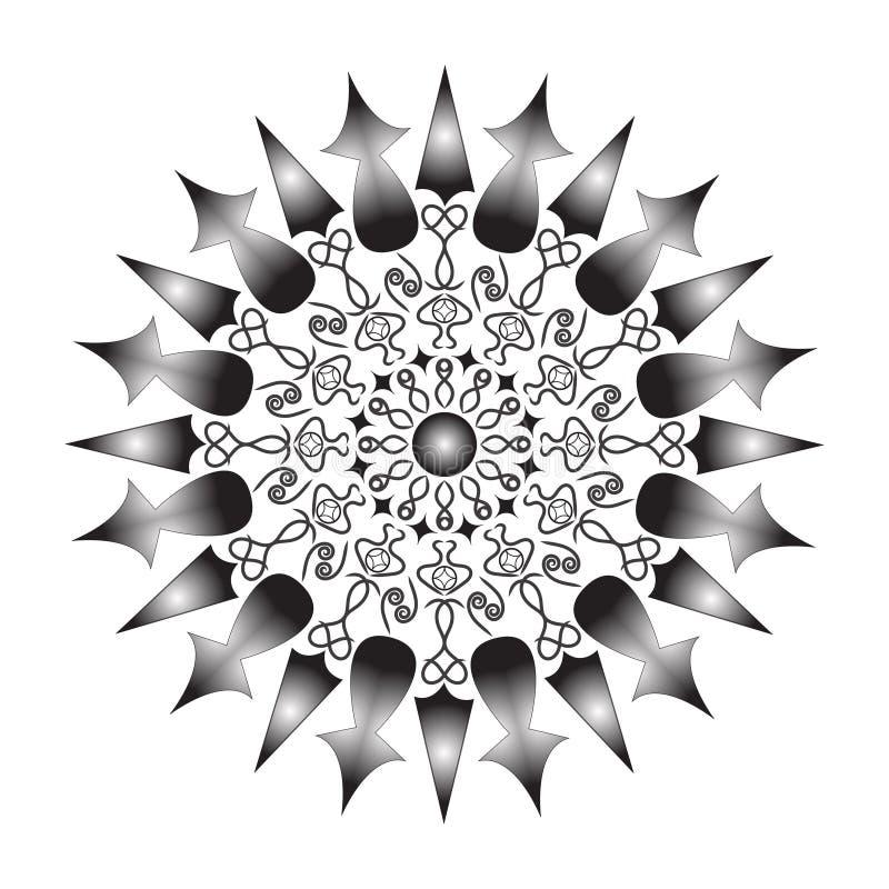 Λουλούδι Mandala Εκλεκτής ποιότητας διακοσμητικά στοιχεία Ασιατικό σχέδιο, απεικόνιση Ισλάμ, Αραβικά, Ινδός, μαροκινά, Ισπανία, τ απεικόνιση αποθεμάτων