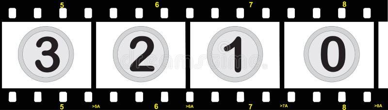 λουρίδα αριθμών ταινιών διανυσματική απεικόνιση