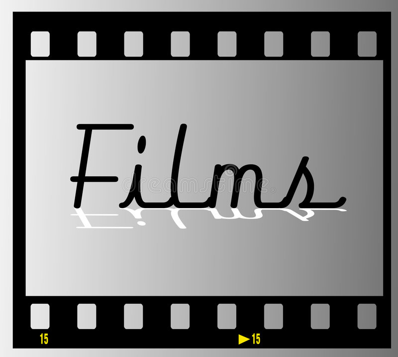 λουρίδα πλαισίων ταινιών ταινιών διανυσματική απεικόνιση