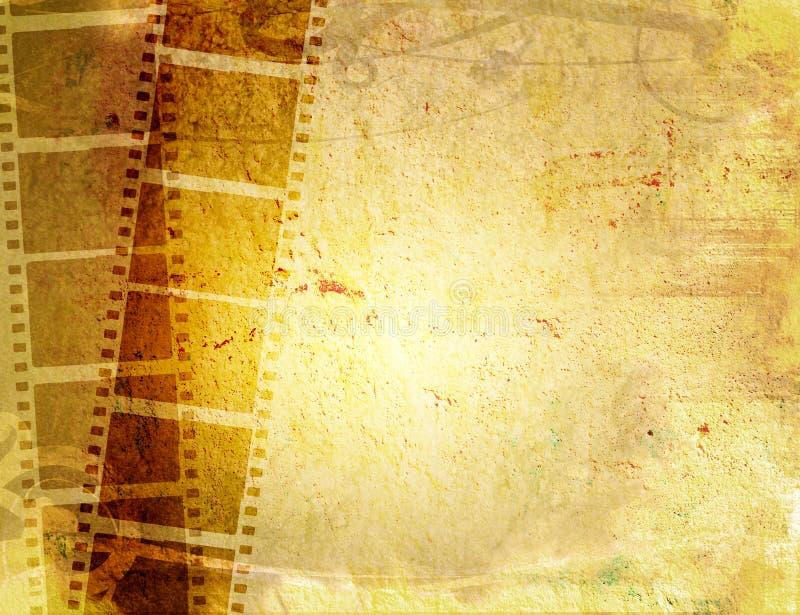 λουρίδα ταινιών ανασκοπήσεων grunge απεικόνιση αποθεμάτων