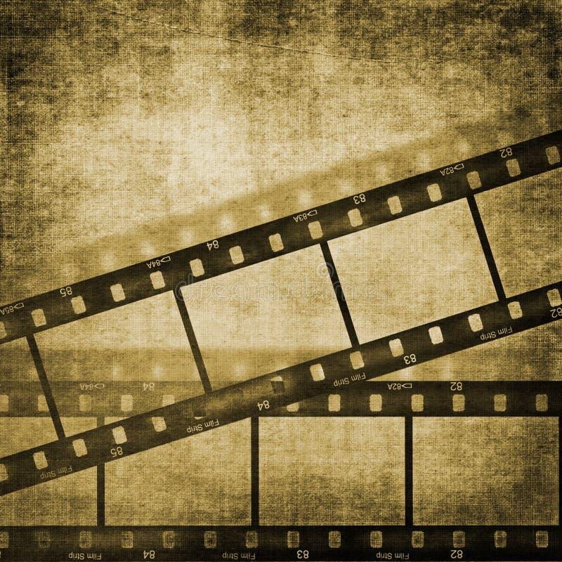 λουρίδα ταινιών επίδρασης ανασκοπήσεων grunge ελεύθερη απεικόνιση δικαιώματος