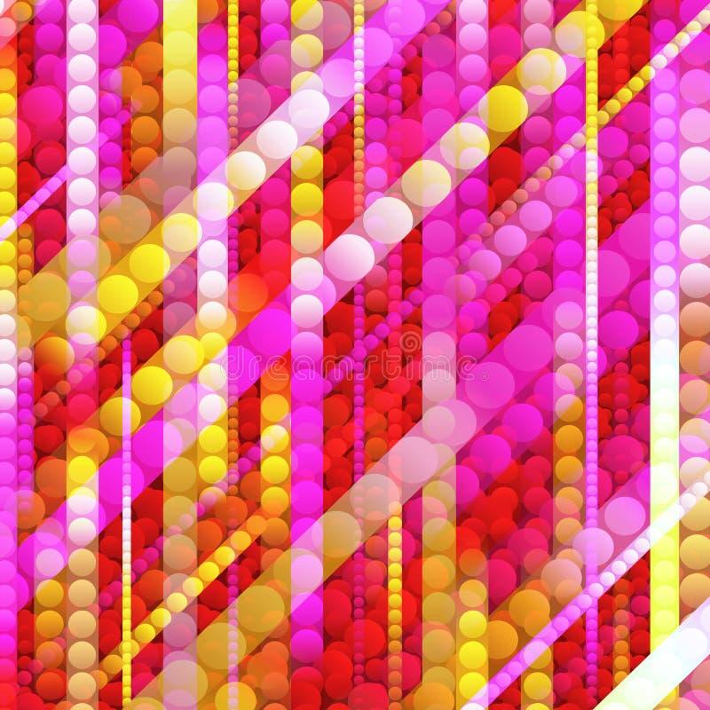 Λουρίδες των λαμπρών χρωματισμένων κύκλων απεικόνιση αποθεμάτων