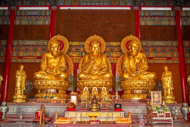 Λουρί Bua κτυπήματος, Nonthaburi, Ταϊλάνδη - 17 Ιανουαρίου 2019: Ναός 2 χώρος λατρείας φ Leng NEI Yi ναών Racha Kanchanaphisek Bo στοκ εικόνες