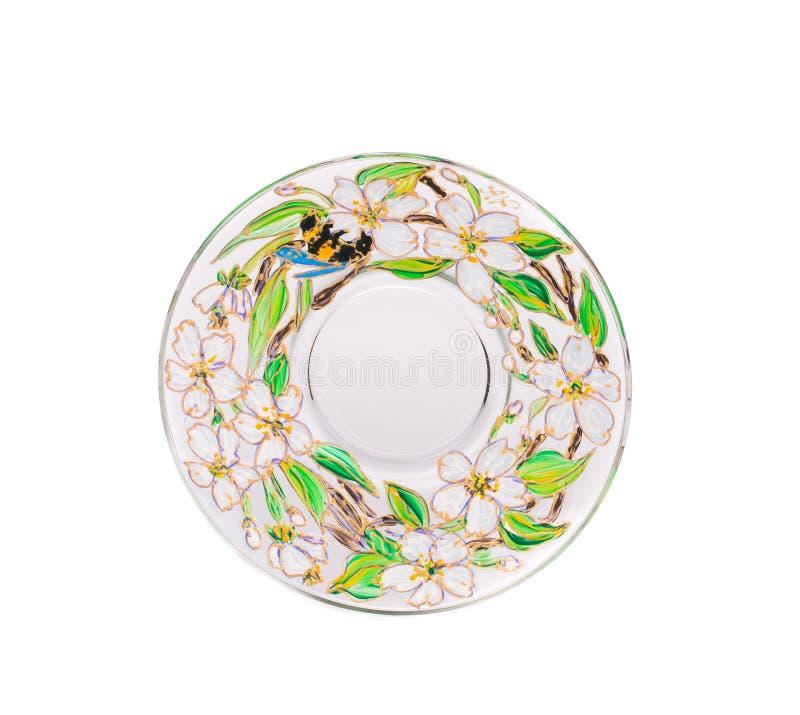 Λουστραρισμένο κεραμικό πιάτο στοκ εικόνες