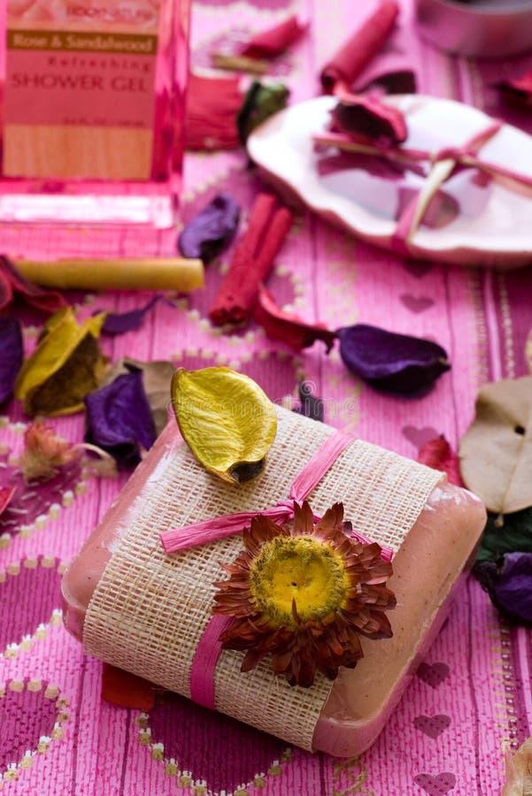 λουτρό διαφορετικό items spa στοκ εικόνες