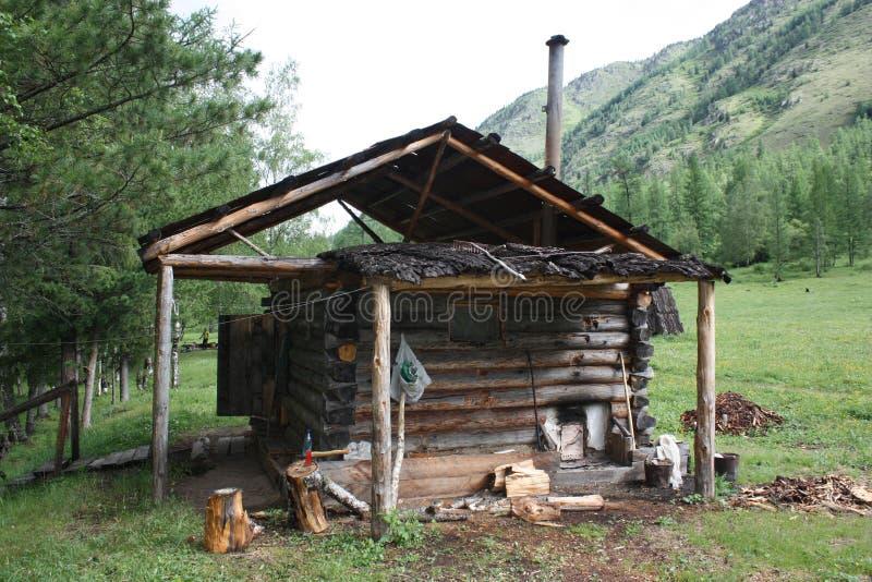 Λουτρό μακριά στα βουνά Altai στοκ εικόνες